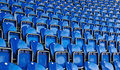 Seats on stadium Stock Image