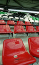 Seats in a stadium 3 Stock Image