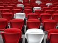 Seats in a stadium rows of national singapore Royalty Free Stock Photography
