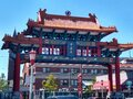 Seattle Chinatown downtown Royalty Free Stock Photo