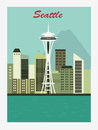 Seattle city. Royalty Free Stock Image