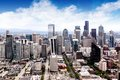 Seattle cityscape aerial view of Royalty Free Stock Photos