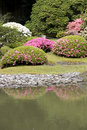 Seattle japanese garden picturesque in spring Stock Photo