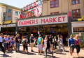 Seattle-- Pike-Platz-allgemeiner Markt Stockfoto