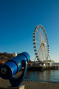 Seattle s great wheel http www bizjournals com news waterfront businesses to close during html the closure will affect businesses Stock Photography