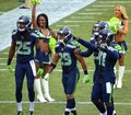 Seattle seahawks legion of boom at century link Royalty Free Stock Photography