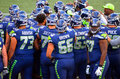 Seattle Seahawks Pre Game Huddle Royalty Free Stock Photo