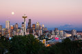 Seattle skyline at dusk Royalty Free Stock Photo