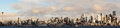Seattle skyline i took a series of images and stiched them together to form this high resolution image of Royalty Free Stock Photography