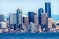 Seattle skyline puget sound cascade mountains washington state pacific northwest Royalty Free Stock Photography