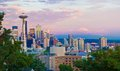 Seattle Skyline and Space Needle Royalty Free Stock Photo