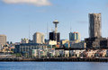 Seattle skyline with space needle the washington and taken from elliott bay Stock Images
