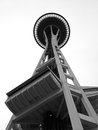 The seattle space needle a photography of well known landmark of built for world s fair in Royalty Free Stock Photo