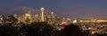 Seattle Washington City Skyline at Dusk Panorama Royalty Free Stock Photo