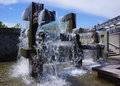 Fountain Seattle Waterfront Royalty Free Stock Photo