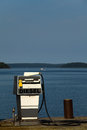 Seaview diesel gas station in the finnish swedish archipelago Stock Image
