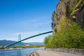 Seawall stanley park in vancouver canada Stock Photography
