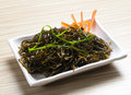 Seaweed salad plate of and sesame seed Royalty Free Stock Image