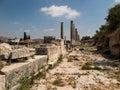 Sebastia ancient israel ruins and excavations sebastian in the palestinian territories smaria Royalty Free Stock Photos