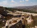 Sebastia ancient israel ruins and excavations sebastian in the palestinian territories smaria Royalty Free Stock Photo