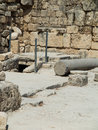 Sebastian ancient israel ruins and excavations in the palestinian territories smaria entrance to the first tomb of st john Stock Image