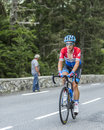Sebastian Langeveld on Col du Tourmalet - Tour de France 2014 Royalty Free Stock Photo