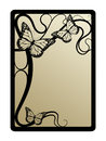 Secession frame art nouveau with butterflies Stock Photos