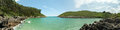 Secluded bay little in asturias spain Stock Photos