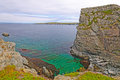 Secluded bay on the ocean coast mad rocks near roberts newfoundland Royalty Free Stock Images