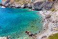 Secluded beach in Milos island, Cyclades, Greece Stock Photo