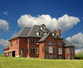 Secluded Brick Mansion Royalty Free Stock Photo