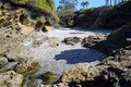Secluded cove near Crescent Bay, Laguna Beach, California. Royalty Free Stock Photo