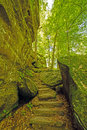 Secluded trail in a forest canyon rim rock national shawnee national illinois Stock Photo