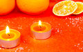 Second advent burn two candles Royalty Free Stock Images