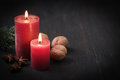 Second advent christmas card with copy space Stock Photography