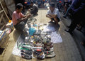 Second hand goods various sold at a village market in sukoharjo central java indonesia Stock Images