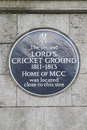The Second Lords Cricket Ground Royalty Free Stock Photo
