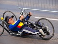 Second lublin marathon lublin poland the disabled at the th may Royalty Free Stock Images