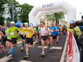 Second lublin marathon lublin poland the th may Royalty Free Stock Image