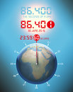 Second more, atomic clock, leap second Royalty Free Stock Photo