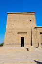 Second pylon of philae temple of isis egypt on agilkia island in lake nasser Royalty Free Stock Photography