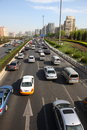 Second ring road in beijing china april cars of Royalty Free Stock Image