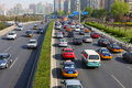 Second ring road in beijing china april cars of Royalty Free Stock Photography