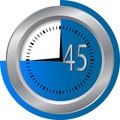 45 seconds Clock Royalty Free Stock Photo