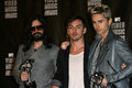Seconds to mars at the mtv video music awards press room nokia theatre l a live los angeles ca at the mtv video music awards nokia Stock Image