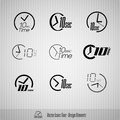 Seconds vector icons time symbols design elements Stock Photos