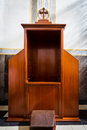 Secret of a confession catholicism confessional the room keeping Royalty Free Stock Image