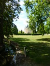 The secret garden somewhere in south central france near cognac is a beautiful old chateau Royalty Free Stock Photos
