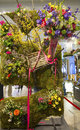 The secret garden theme flower decoration during famous macy s annual flower show new york april in department store at Stock Images
