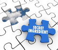 Secret Ingredient Puzzle Piece Classified Information Confidential Recipe Royalty Free Stock Photo